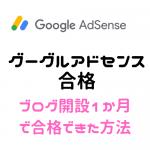 グーグルアドセンス 1か月で申請 審査で合格できた方法