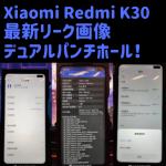 Redmi K30デュアルパンチホールディスプレイ画像が流出